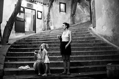 girls in cefalu (gorbot.) Tags: street summer blackandwhite night evening f14 sicily roberta cefalu canoneos5d silverefex carlzeisszf50mmplanarf14