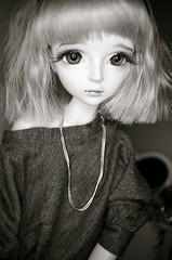 Black and White Chiharu (Emi and Lea) Tags: cute dress handmade mabel bjd balljointeddoll chiharu dollman leekeworld