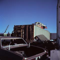 62 (David Dasinger) Tags: california longexposure film night rollei desert mojave junkyard rolleicord
