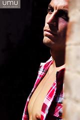 Ruben for UMU (tim_asato) Tags: man sexy male men ladrillo muro pecs wall shirt beard model muscle handsome hunk modelo trunk shorts guapo abs beefcake blackeye barba umu masculino breek purpleeye ojomorado rubengallego timasato urbanmenunderwear