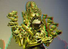 Buddha-statue Hevajra Nairatmya (wim hoppenbrouwers) Tags: china anaglyph stereo buddhastatue boeddha 1403 redcyan wereldmuseum mingdynastie stereopicture anaglyf wereldmuseumrotterdam hevajranairatmya buddhastatuehevajranairatmya