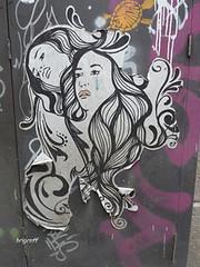 Graff in Barcelona (brigraff) Tags: barcelona streetart pasteup art collage spain sticker arte bcn panasonic espana papier espagne barcelone papiercoll artedelacalle tz7 urbanaarte panasonictz7 brigraff
