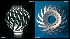 Paper Lamp Ball Twist Spiral 1 1/3 (NeoSpica / NeoLiveArt) Tags: lighting light lamp ball paper spiral design cut twist cardboard ornaments decorating lantern fold papier
