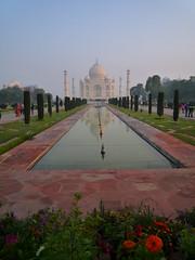 Taj Mahal at Sunrise (AJoStone) Tags: india taj mahal agra 2014