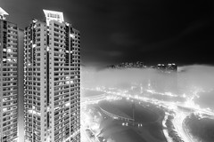Engulfed City (Ericlaihk) Tags: cloud mist misty fog night hongkong foggy kowloon nocturne newterritories tseungkwano vision:outdoor=0883 vision:sky=0964 vision:dark=0765 vision:clouds=0912 vision:snow=0592