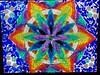 Rainbow Flower Kaleidoscope (TreeFrogArts) Tags: art rainbow colorful mosaic kaleidoscope glassart temperedglass glassonglassmosaic