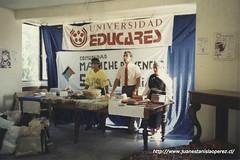 Encuentro Universidad Educares, Sede Viña del Mar y Comunidad Mapuche-Pewenche dirigida por Selfa Antimán, en la comuna de Santa María. V Región Chile, 1991.