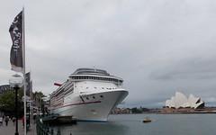 Carnival Spirit (Hear and Their) Tags: cruise carnival house harbor opera ship harbour spirit sydney australia terminal quay nsw circular