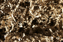 Shredded packing cardboard - macro-4 (dominicotine) Tags: brown cardboard