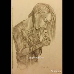 #drawing ;#; #; #sketch; #sketchbook;  #; #; #; #; #; #; #; #; #man; #; #; #; #; #girl; #woman; #elf; #;  #ilovegames; #game (hourofdawn) Tags: woman man girl sketch drawing games sketchbook elf bethesda hobbit inkpen     fineliner forestfairy     ilovegames         iamgamer  thehobbitbattleoffivearmies battlefivearmies