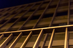 """""""ArGridecture"""" (TomPix - www.facebook.com/tompixfrance) Tags: architecture night 35mm grid pentax bokeh bordeaux grille nuit barrière"""