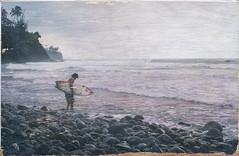 Finished Emulsion Transfer (aloha_bigmike) Tags: hawaii surfing bigisland emulsiontransfer honolii phototowood alohabigmike