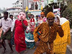 Hindu holiday in Munnar (Evgeni Zotov) Tags: street carnival people horse music india holiday man festival feast fun happy town dance costume mask religion group kerala rack torture indie jaguar procession hindu indië hinduism rider hang indien inde munnar インド hindistan 印度 भारत índia הודו strappado 인도 الهند индия