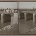 Gallen-Kallela´s family with some company crossing a bridge on a trip to Memphis in Egypt, 1910.