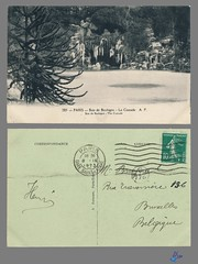 PARIS - Bois de Boulogne - La Cascade (bDom [+ 3 Mio views - + 40K images/photos]) Tags: paris 1900 oldpostcard cartepostale bdom