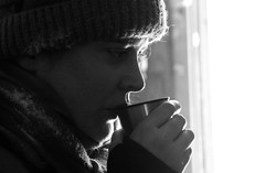 Brigitt enjoying a hot tea during the snow-shoe walk (roomman) Tags: winter people blackandwhite bw woman white snow black hot ice girl face walking snowshoe shoe blackwhite wind tea drink sweden hiking walk north windy hike arctic mug polar icy bandw northern brigitte norrland bjrkliden 2015 fjll brigitt norrbotten snowshoewalk fjllby