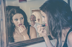 Stop putting that stuff on your face! (sophie_merlo) Tags: model women control models domesticviolence domesticabuse