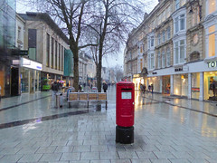 Type K pillar Box in Cardiff Queen Street 29.01.2015 (The Cwmbran Creature.) Tags: office post general box pillar gpo