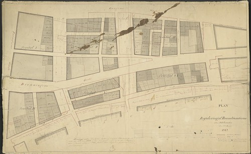 Plan til Regulering af Brandtomterne efter Ildebranden den 22de Januari 1842 (1844)