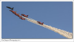 Formation Flying (Paul Simpson Photography) Tags: red airplane flying aircraft flight bluesky aeroplane lincolnshire airshow redarrows raf airshows photosof imageof photoof imagesof sampton sonya77 paulsimpsonphotography february2015