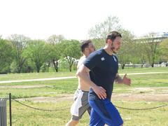 IMG_0650 (FOTOSinDC) Tags: shirtless man men muscles muscle candid handsome running sweaty sweat shorts jogging runner tee jogger