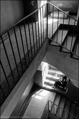 Torino 0401 (malko59) Tags: urban blackandwhite scale stairs torino turin biancoenero cavallerizzareale