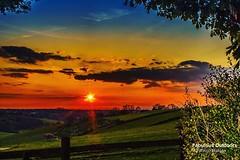 The Sun Sets over the Surrey Hills (Fabrizio Malisan Photography @fabulouSport) Tags: uk greatbritain travel sunset england sun tourism nature weather landscape landscapes countryside tramonto britain country sunsets surrey hills british tramonti britishcountryside coucherdusoleil surreyhills surreyuk visitsurrey