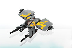 Gliesian Impi33m fighter (Adrian Florea) Tags: lego space military stickers boom scifi guns spaceship moc wakkawakkawakka