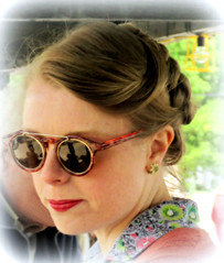 '40s Cameo Portrait  ( extra -edit ) (John(cardwellpix)) Tags: uk portrait day may saturday surrey cameo 14th 40s brooklands 2016