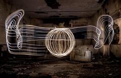 Orb () Tags: school light urban lightpainting abandoned architecture dark painting circle lights colorado long exposure fort grunge spin explorer orb haunted creepy led trail forgotten dome spinning nightshots morgan exploration ghostly urbex ledlights lightorb