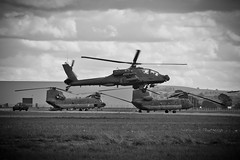 Returning From The Hunt (Charlie Little) Tags: bw airport apache nikon aviation helicopter cumbria carlisle gunship d7100