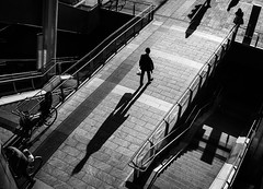 Pulvis et Umbra sumus (Petricor Photography) Tags: street blackandwhite white black milan contrast photography shadows candid milano canonpersonalconnection