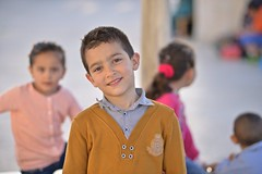 nnocency (ilmikadim) Tags: boy color girl smile face look square child play looking jerusalem alaqsa kuds childiren innocency quds
