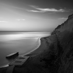 So End these Wonderful Days at the Baltic Sea (panfot_O (Bernd Walz)) Tags: longexposure sea blackandwhite bw seascape beach monochrome night square evening coast dusk fineart peaceful tranquility atmosphere calm balticsea shore silence contemplation waterscape