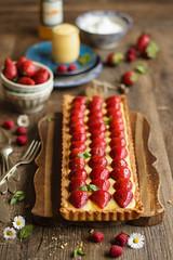 IMG_9381_exp (Helena / Rico sin Azcar) Tags: strawberry berries vanilla tart tarta fresas pastrycream vainilla cremapastelera