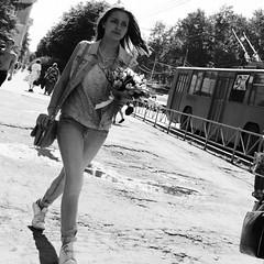 *** (Shloev M.) Tags: street blackandwhite bw girl pentax strangers streetphoto pentaxk3ii