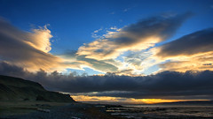 sunset and storm happening hand in hand (lunaryuna) Tags: sunset sky panorama storm nature water beauty weather clouds reflections season landscape bay coast iceland spring solitude textures shore fjord lowtide flotsam lunaryuna stillness cloudscape westfjords mountainrange stormfront stitchedpanorama boggrass seasonalchange weathermood northwesticeland lightmood seasonalwonders treesthatbroughtthesea motherstorm thecolioursoficeland