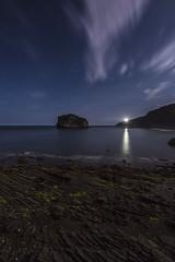 aketxe y matxitxako (mandiskywalker) Tags: ocean sea beach night stars faro mar cabo country playa estrellas nocturna bizkaia basque isla vasco pais oceano matxitxako gaztelugatze aketxe