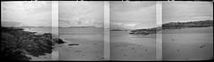 Morar (Mark Rowell) Tags: bw film scotland highlands lofi panoramic diana hp5 rum ilford morar eigg dianarama