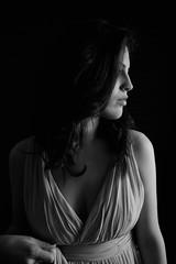 Profilo (BlumBlu) Tags: black white light luce ombra girl ragazza portrait profilo persone monocromo ritratto bianco nero interni