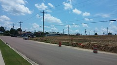 Zoomed out view of work by the East Parkway entrance (Retail Retell) Tags: kroger marketplace v478 hernando ms desoto county retail construction expansion project