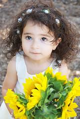 Gianna_0103 (Ciara*) Tags: girl kid toddler smiles cutie niece sunflower
