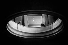 circles (Katerina Atha) Tags: people blackandwhite bw art museum architecture gallery geometry circles space