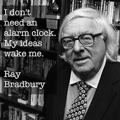 GOOD MORNING!  ~Ray Bradbury  #amwriting #amreading #authors #readers #bookworms #Penned #Inspiration #motivation (leahlozano.author) Tags: amwriting amreading authors readers bookworms penned inspiration motivation