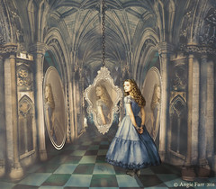 Hall Of Mirrors (rubyblossom.) Tags: reflection rabbit texture reflections hall hole alice room 4 mirrors competition down fantasy tiles imagination challenge 109 aliceinwonderland the 2016 downtherabbithole ghostworks rubyblossom rubystreasures