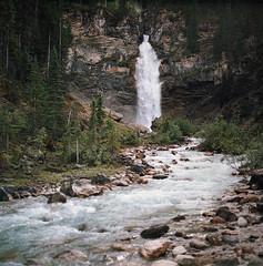 longing for adventures, part three (manyfires) Tags: canada film analog mediumformat square landscape waterfall honeymoon hasselblad yohonationalpark hasselblad500cm