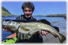 Kayakfishscotland (Nicolas Valentin) Tags: fish skye scotland big fishing surf kayak stealth pollock fisha