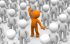 i am here! (godataimg) Tags: people white abstract cute person rising one 3d team different unique crowd special business greece part human positive choice volunteer success challenge choose eyecatcher individual composing