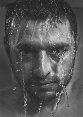 Shower selfie (mortimerphotographic) Tags: portrait selfportrait water speed self canon high sync hhs selfie godox