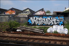 Jobz / Anik / Take / KCrush (Alex Ellison) Tags: urban graffiti boobs jobs railway take tt kc graff smc southlondon trackside dds anik dfn jobsy jobz trapteam kcrush